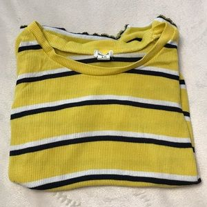 🍒3 for $15 - Garage Striped Baby Tee